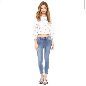 Free People Ankle Zip Skinny Jeans Size 28